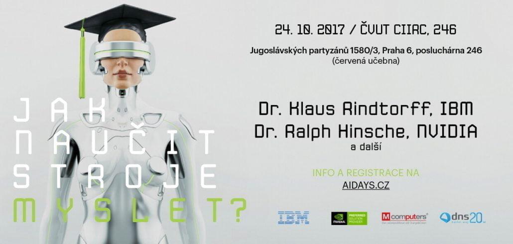 Pozvanka na konferenci Jak naučit stroje myslet na téma učení strojů