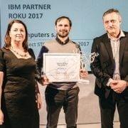 Zuzana Kocmaníková (IBM), Michal Štěrba (M Computers), Miro Marko (IBM)