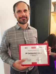 Michal Šterba a Lenovo HPC partner 2019